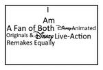 Fan of Both Disney Originals x Remakes Stamp