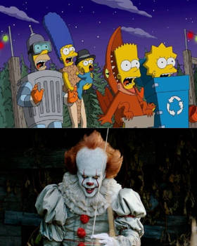 The Simpsons Get Scared of Pennywise