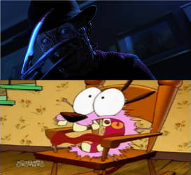 Courage Scared of Freddy Krueger