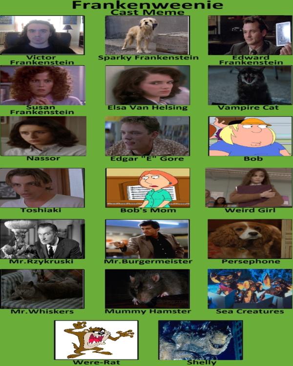My Frankenweenie Cast Meme By Carriejokerbates On Deviantart