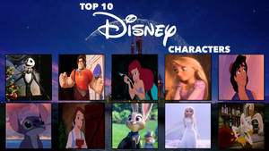 My Top 10 Disney Characters Meme