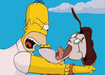 Homer Strangling Eustace Bagge