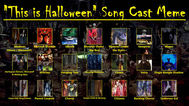 My This Is Halloween Song Cast Meme