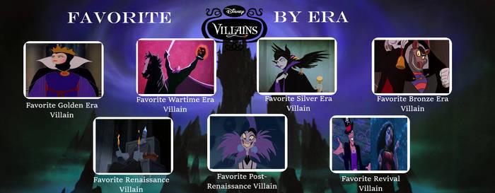 My Favorite Disney Villain By Era