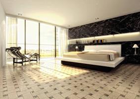 Bedroom interior by fraher-david
