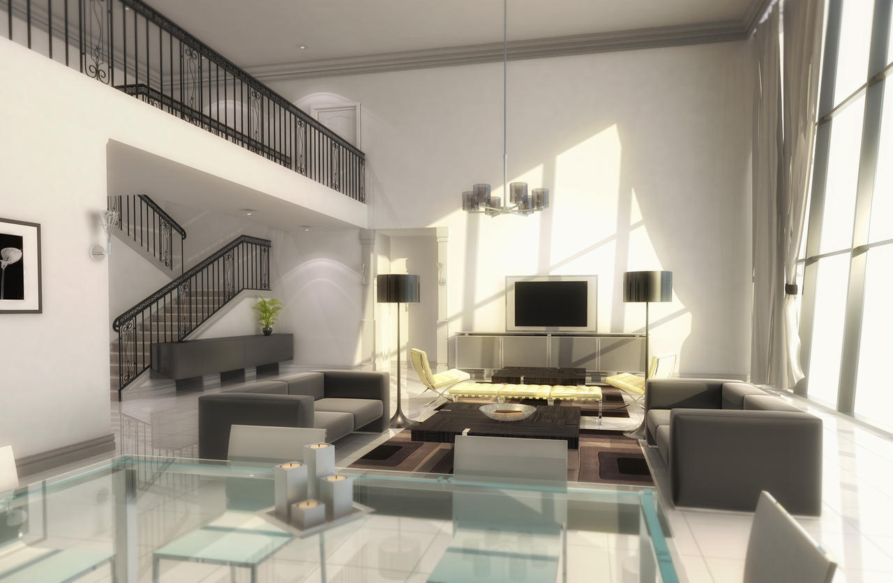 Interior duplex x by fraher david on deviantart for House plans with interior photos