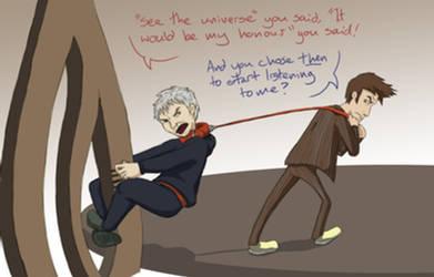 Doctor vs Master by SeraphL