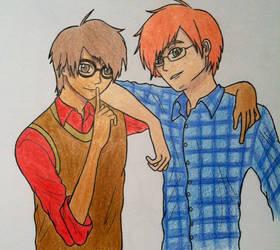 Itsuki and Akio by Tigerwolf10