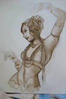 belly dancer in progress by PoisonRice