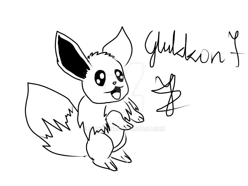 Pokemon Kawaii Eevee Quick Draw By Glukkon7 On Deviantart