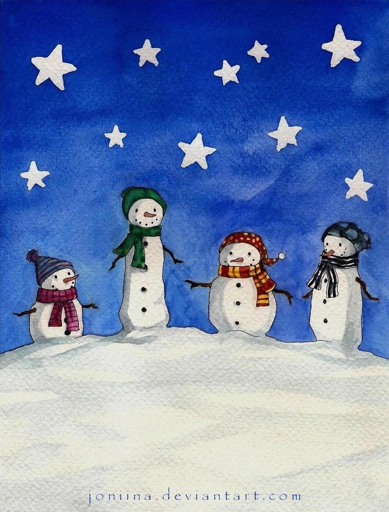snowmen by joniina