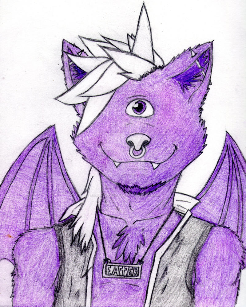 purple people eater almost done by Sasukewerewolf