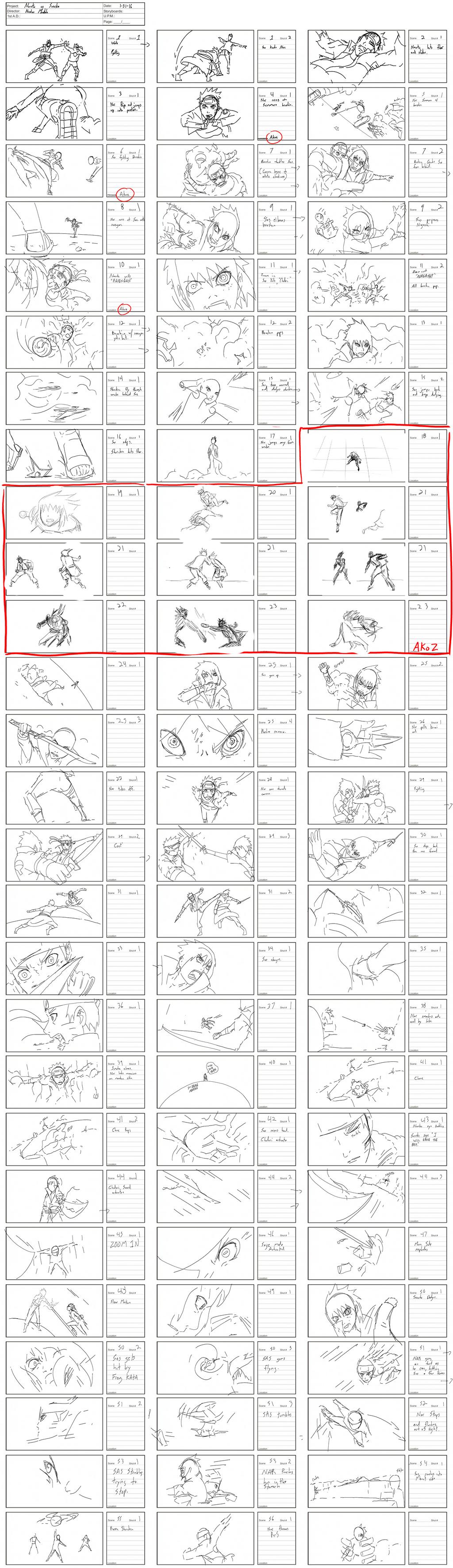 Naruto vs Sasuke Storyboard WIP