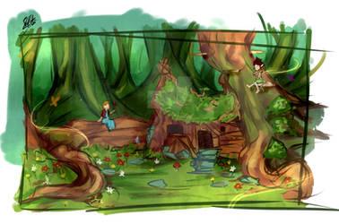 Concept Art Rough 03 - trollskogen