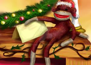 Sock Monkey Christmas