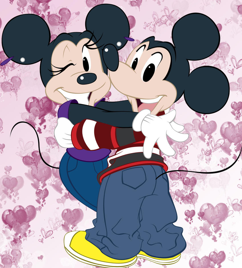 Mickey + Minnie by Akeem