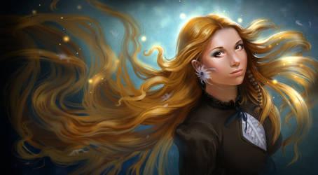 Blond woman. by AleksandraKhalilova