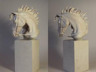 Portrait of a horse2 by AleksandraKhalilova