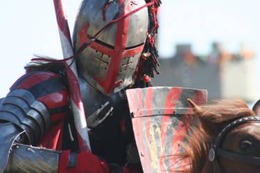 Red Knight on Horseback by Crafty-Jack