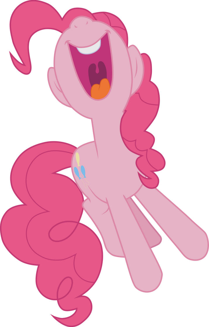 Pinkie Pie yelling kumquat (Vector) by Chrzanek97