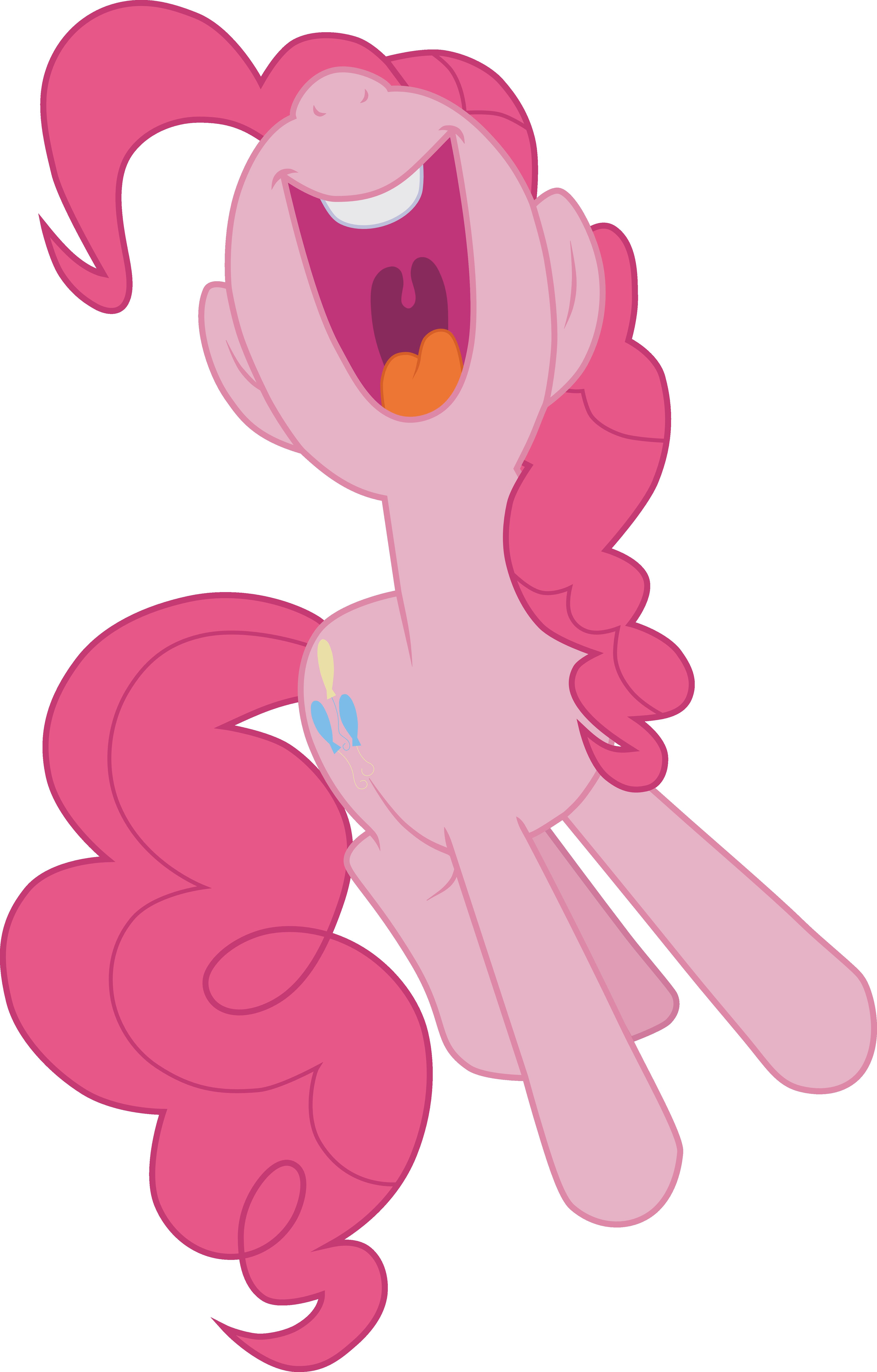 Pinkie Pie yelling kumquat (Vector) by Chrzanek97