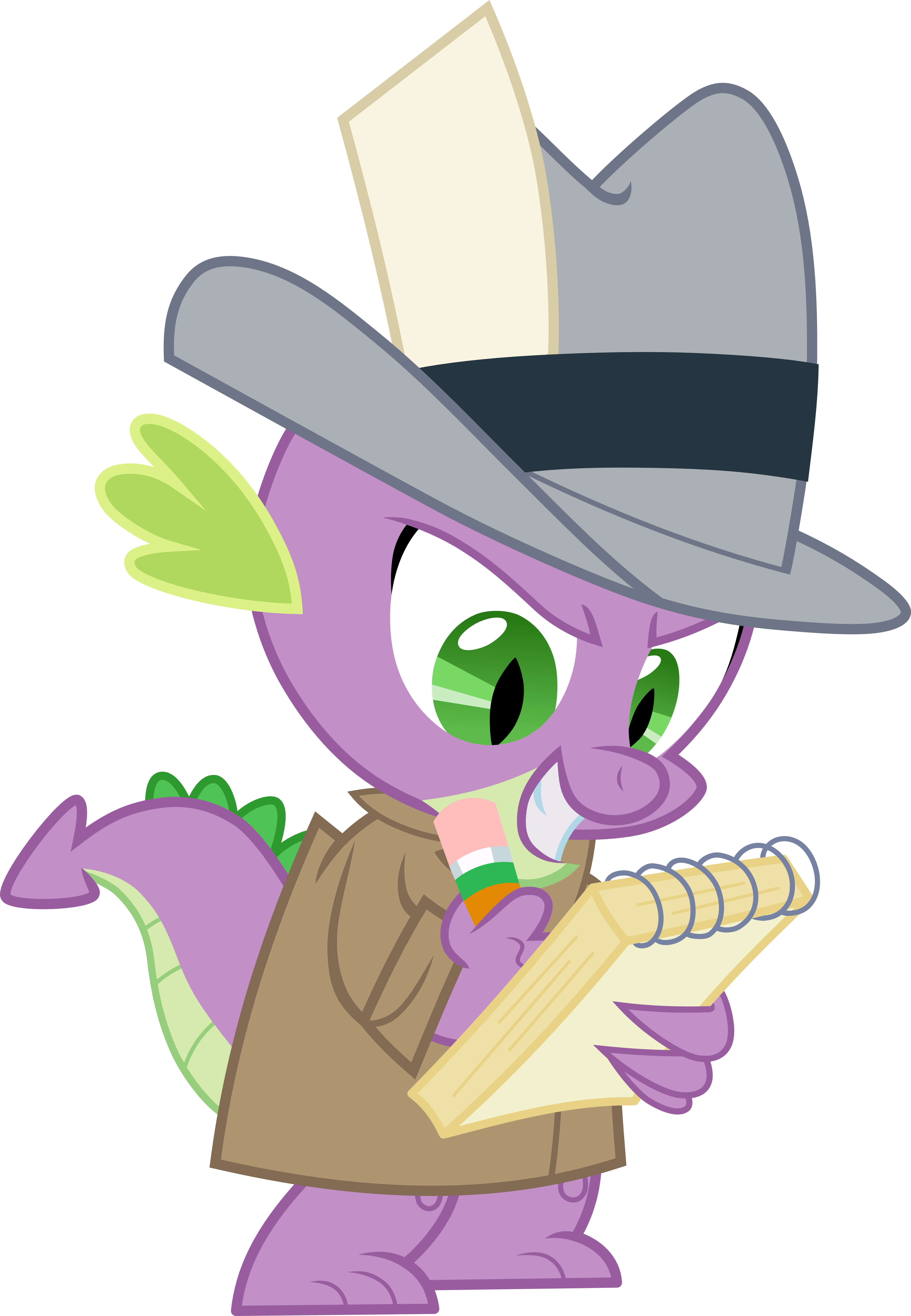 Spike with notebook (Vector) by Chrzanek97