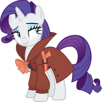 Rarity as a detective (Vector) by Chrzanek97