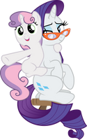 Rarity and Sweetie Belle together (Vector) by Chrzanek97