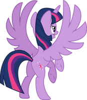 Twilight spreading wings (Vector) by Chrzanek97
