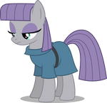 Maud Pie standing and thinking (Vector)