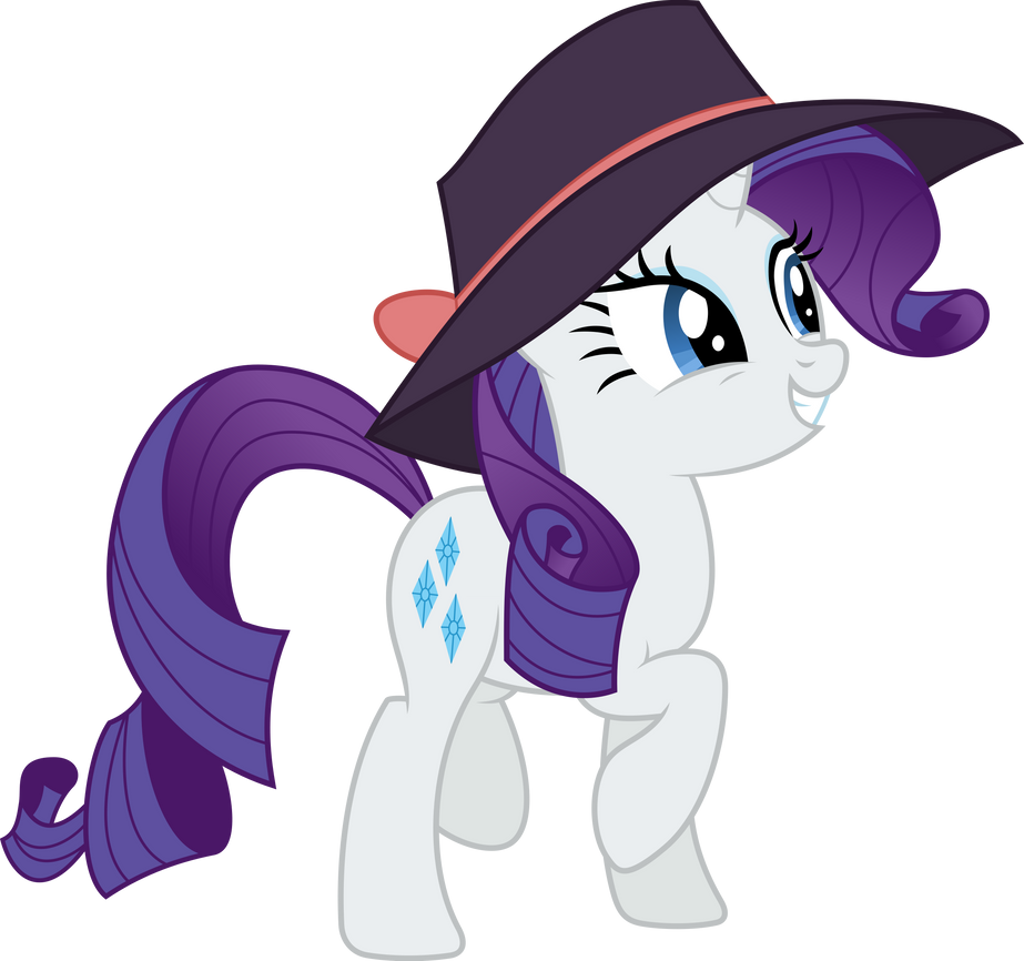Rarity is happy and cute (Vector) by Chrzanek97
