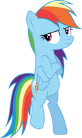 Rainbow Dash cool (Vector)