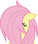 Fluttershy covered in mane (Vector)