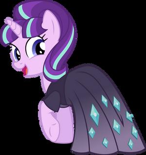 Starlight Glimmer in a dress (Vector)