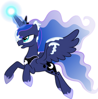 Princess Luna against blizzard (Vector) by Chrzanek97