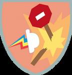 Rainbow Crash badge (Vector)