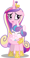 Princess Cadence and Flurry Heart (Vector)