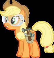 Applejack mechanic (Vector) by Chrzanek97