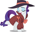 Rarity in detective outfit (Vector)