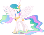 Princess Celestia is happy to see you (Vector)