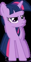 Grumpy Twilight (Vector) by Chrzanek97