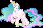 Princess Celestia shy (Vector)