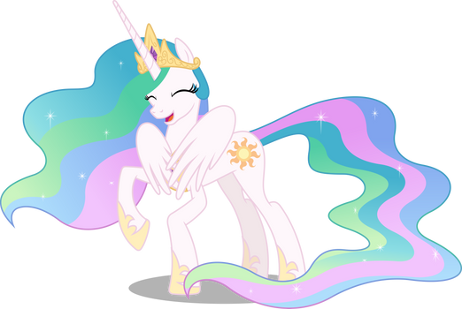 Princess Celestia shy (Vector)