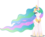 Princess Celestia annoyed (Vector)