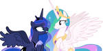 Luna and Celestia emotionally talking (Vector) by Chrzanek97
