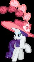 Rarity in a fancy hat (Vector)