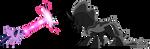 Twilight Sparkle vs Pony of Shadows (Vector) by Chrzanek97