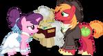 Sugar Belle and Big Mac getting married (Vector) by Chrzanek97