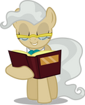 Mayor Mare with a book (Vector) by Chrzanek97