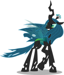 Queen Chrysalis in the wind (Vector) by Chrzanek97